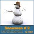 3d model the snowman in winter