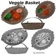 3d model the vagetables