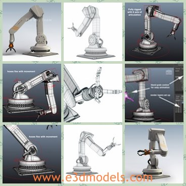 3d model the industrial robotic arm - Share and Download 3D