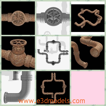 3d model the rusty pipe - Share and Download 3D Models at e3dmodels com
