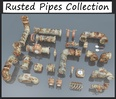 3d model the collection of pipes