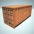 3d model the container in the dock