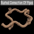 3d model the rusty pipe