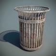 3d model the trash bin