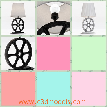 3d model a lamp with a wheel - This is a 3d model of a lamp with a wheel,which can be moved to anywhere when necessary.The lamp is practical and useful.