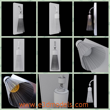 3d model a light with a special shell - This is a 3d model of a light with a special shell,and the shell is made of iron wires.The model will give special lighting.