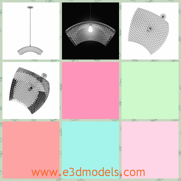 3d model the ceiling lamp - This is a 3d model of the ceiling lamp with a special roof and the shape is special and charming.