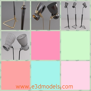 3d model the floor lamp - This is a 3d model of the floor lamp,which is special and movable.The head can be moved and the model is popular in the house.