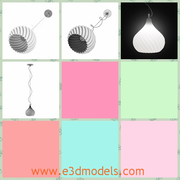 3d model the lamp as the pendant - This is a 3d model of the lamp as the pendant,which is large and modern.The string linked to the lamp is so thin.