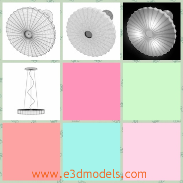 3d model the lamp in white with a round cushion - This is a 3d model of the lamp in white with a round cushion,which is modern and expensive to most common families.