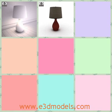 3d model the lamp on the floor - This is a 3d model of the lamp on the floor,which is small and cute and the model is made with the proportions and sizes of real furnitures.