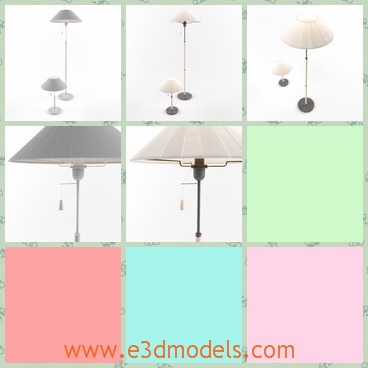 3d model the lamps - This is a 3d model of the lamps,which are two kinds of them.The table lamp is small and can be placed on the table.The floor lamp is tall and can be placed on the corner of the room.