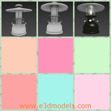 3d model the lantern - This is a 3d model of the lantern with a roof,which is a small and simple one.The model is practical and very popular.