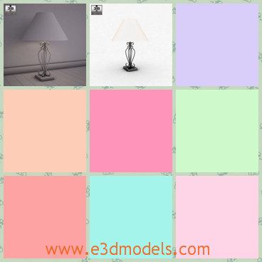 3d model the table lamp - This s a 3d model of the table lamp,which is fine and created with lampshade.It is not expensive and luxury but cheap and pretty.
