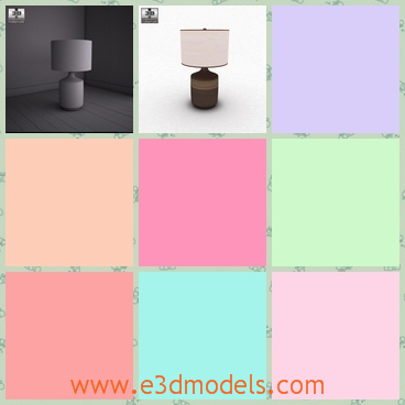 3d model the table lamp - This is a 3d model about the table lamp,which is the Karissa type.The lamp is the necessary furniture in the house.