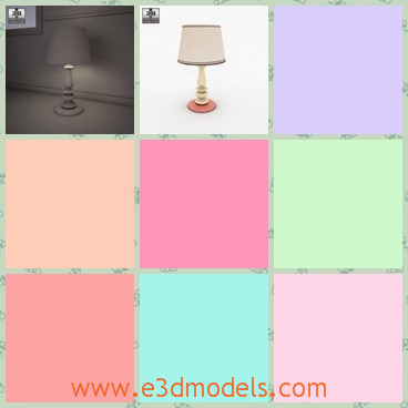 3d model the table lamp on the floor - This is a 3d model of the table lamp on the floor,which is small but practical.The lamp is the common style of the lamp and the new brand is around the corner.