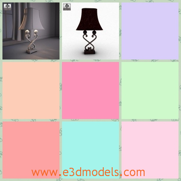 3d model the table lamp with special legs - This is a 3d model of the table lamp with special legs,which is designed  by a famous creator.