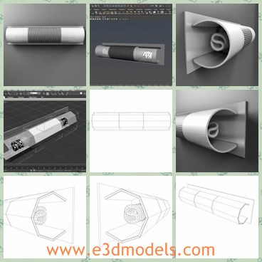 3d model the wall lamp - This is a 3d model of the wall lamp,which is modern and made with good quality.The lamp has a cover on the top.
