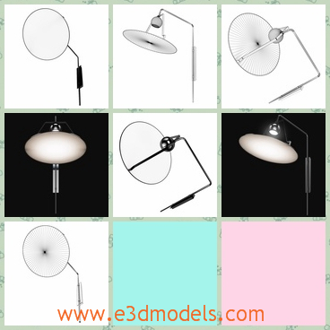 3d model the wall lamp - This is a 3d model of a wall lamp,which is white and special.The lamp is made with high quality and shape is special and different from others.