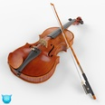 3d model the violin and bow