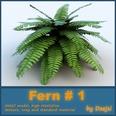 3d model the fern plant