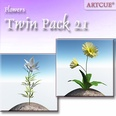 3d model the plant with yellow flowers