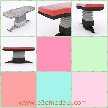 3d model the table with a flexible holder - This is a 3d model of the table with a flexible holder,which is thick and long.The surface is pink and it is cute .