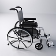 3d model of a wheelchair