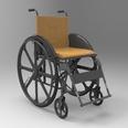 3d model the wheel chair