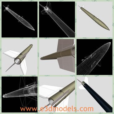 3d model the black rocket - This is a 3d model of the black rocket,which is the common missile in many countries,such as the Canada,the USA,the China and Japan.