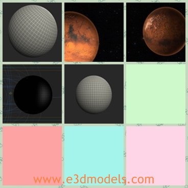 3d model the mars in the planet share and download 3d models at