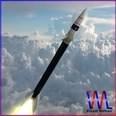 3d model the black rocket