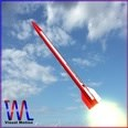 3d model the red rocket