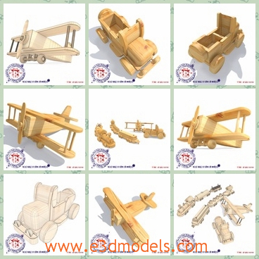 3d model a toy car made in wooden - This is a 3d model of a wooden toy car,which is brown and the design is special and outstanding.