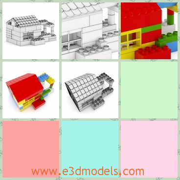 3d model of toy blocks - This is a 3d model which is about toy blocks. Thses blocks can be used to built a toy house and other intresting things.