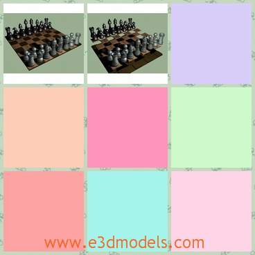 3d model the chessmen and the chessboard - This is a 3d model of the chessmen and the chessboard,which is the classical game in China.The model is ready to print in a 3D printer. The board is 96mm square and 2mm thick.