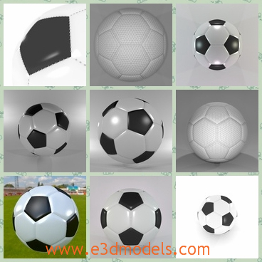 3d model the football - This is a 3d model of the football,which is also called soccer ball.The model consists of two separated mesh objects.