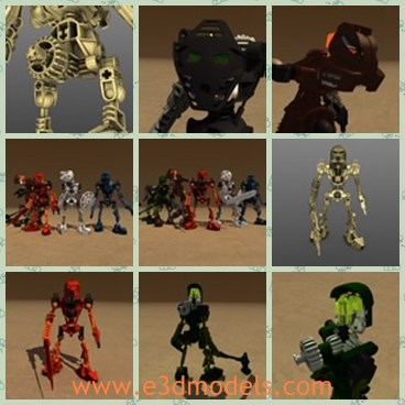 3d model the robot collection - This is a 3d model of the robot collection,which contains 6 different lego bionicle charactors from the Toa Mata series.