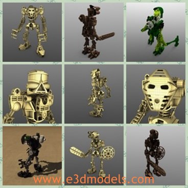 3d model the steel robot - This is a 3d model of the steel robot,which is plasti and animated.The model is detailed and made with good quality.