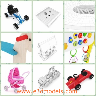 3d models of plastic toys - These are 3d models of some plastic toys which are compatible with Cinema 4D R10 or higher.These toys are cute and pretty.