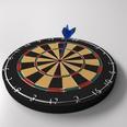3d model of a dartboard