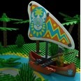 3d model the canoe in Indian