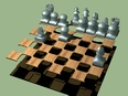 3d model the chess and the board