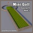 3d model the golf hole