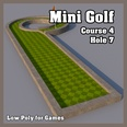 3d model the golf hole in the shape of letter P