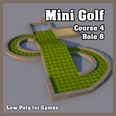 3d model the golf hole made in US dollar shape