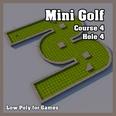 3d model the golf hole with a flag