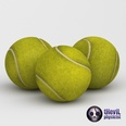 3d model the tennis ball with great textures