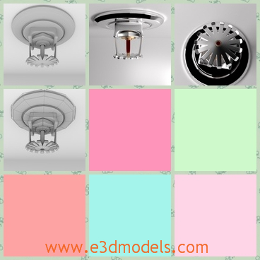 3d model of fire sprinkler - This is a 3d model which is about a fire sprinkler. This fire sprinkler is made of steel and it is fixed to the wall and will sprinkle water when there is a fire.