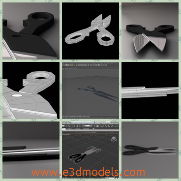 3d model the scissors - This is a 3d model of the tool of scissors,which is the common tool in our life.The model is sharp and dangerous sometimes.